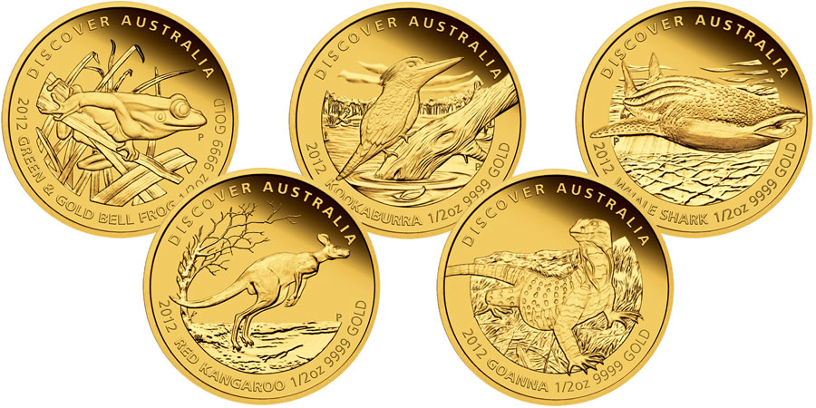 Gold Coins From the Perth Mint (Australia)