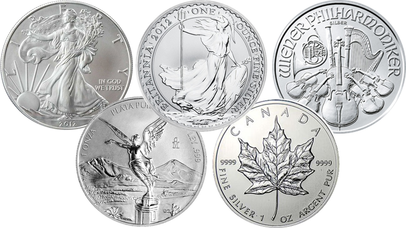 Different 1 oz Silver Coins