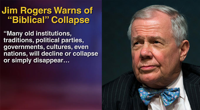 Jim Rogers Predicts Trillion Dollar Biblical Crash